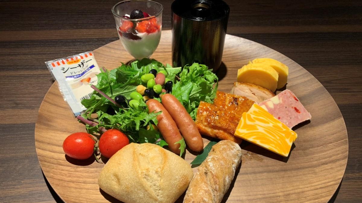 朝食・洋風の日替わりプレート1