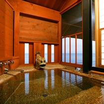 客室「静の海」 半露天風呂