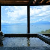 貸切露天風呂「夕日のかがやき」富士山の眺望