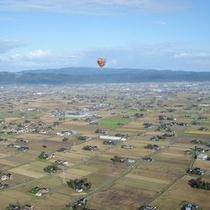 熱気球から見た散居村