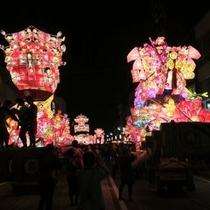 砺波夜高祭り2012支配人撮影。となみが熱く赤く燃える夜