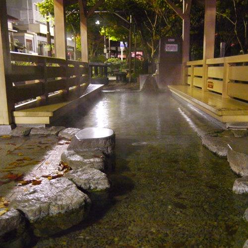 【周辺施設】 宇奈月温泉街・足湯「おもかげ」
