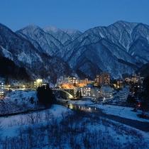 【周辺景観】冬の宇奈月温泉