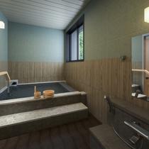 貸切風呂の一例です。