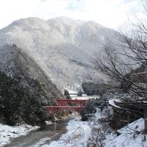 冬の黒部峡谷
