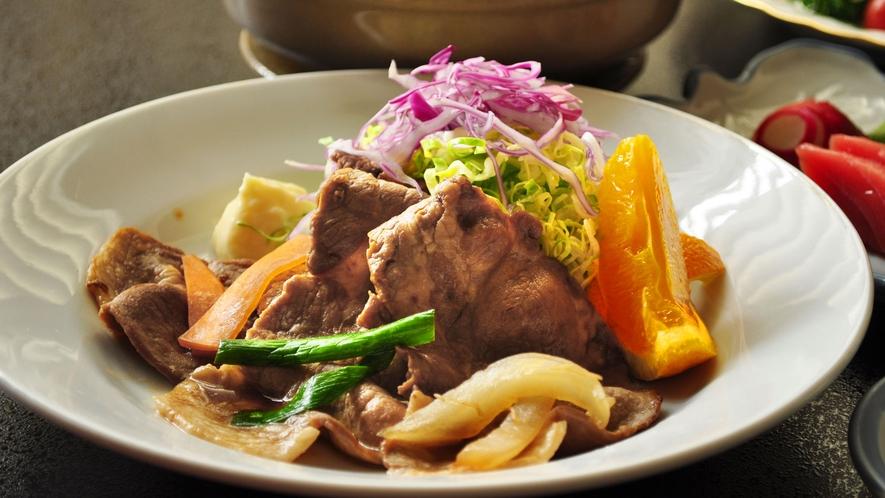 【ビジネスご夕食】明日のスタミナ源。豚肉の生姜焼き。(一例)