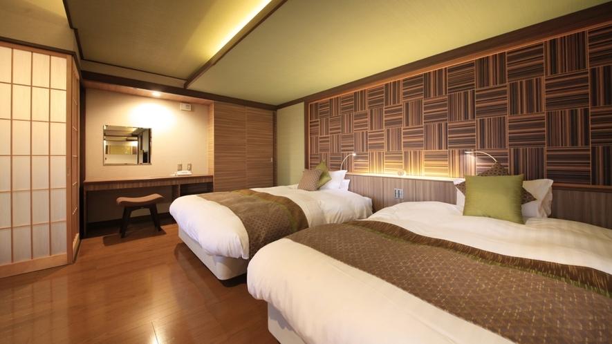 【客室一例】<別邸うらら>露天風呂付客室 デラックス「月」/ツインベッドスペース