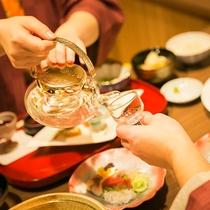 ■別邸うらら■お食事は個室ダイニングでごゆっくりお楽しみ下さい