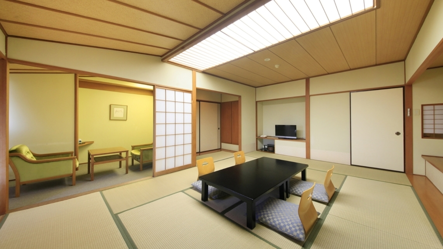 【客室一例】秀翠館 和室/和室10畳+4畳、二間続きのお部屋です。