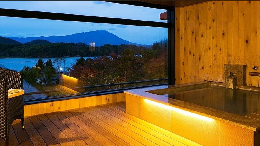【客室一例】<別邸うらら>露天風呂付客室 スイート「宙」/源泉100%かけ流し客室露天風呂