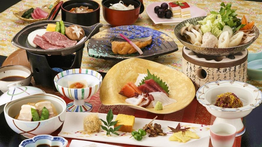 【旬彩会席「かきつばた」】2021年秋のお料理一例 ※内容は一部変更となる場合がございます。