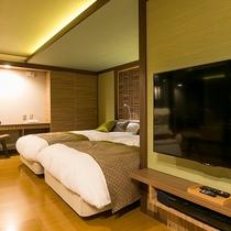 ■別邸うらら■全室50インチTV を設置