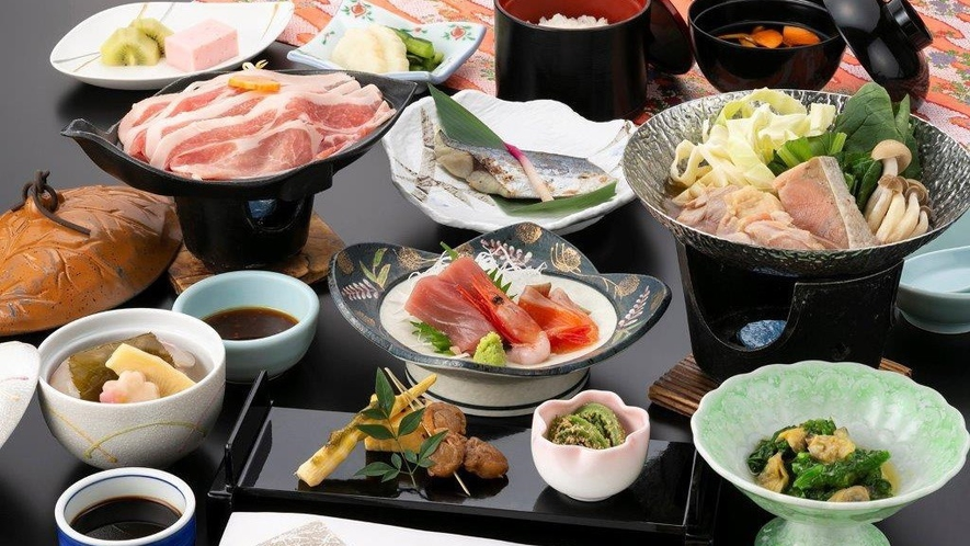 【湯ったり御膳「和(なごみ)」】2021年春のお料理一例 ※内容は一部変更となる場合がございます。