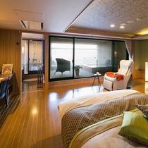 ■別邸うらら■特別室 ベッドルームと露天風呂