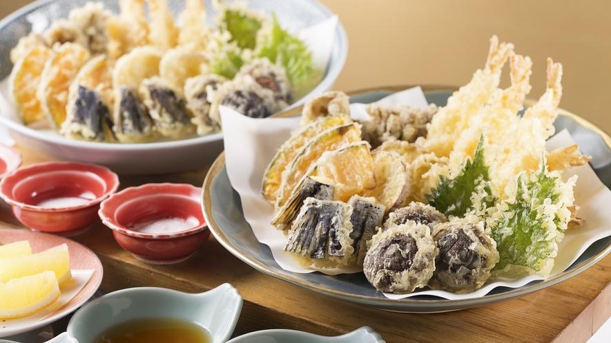 【お料理一例】大人気食べ放題メニュー!「旬の山菜や、海の幸の天ぷら」※イメージ