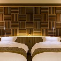 ■別邸 うらら■では全室シモンズ社製ベッドを完備