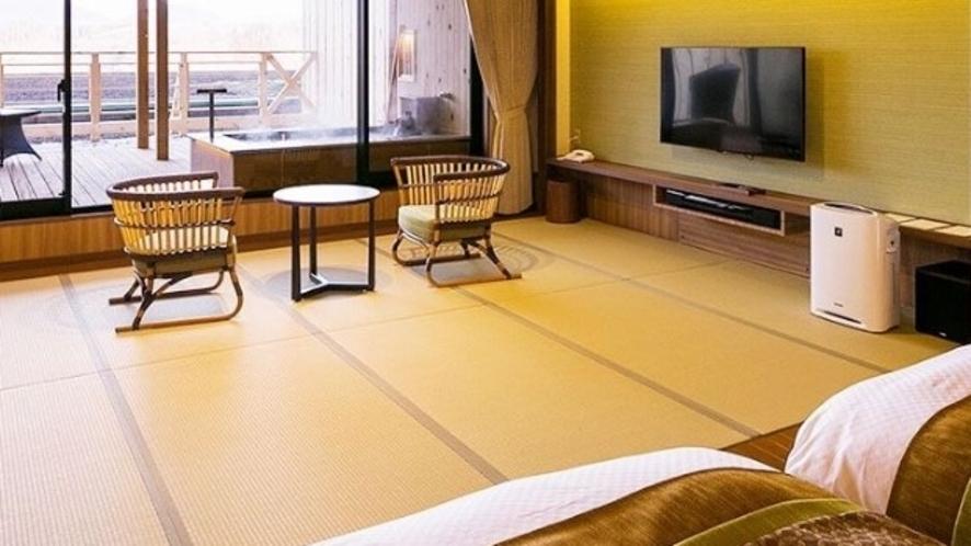 【客室一例】<別邸うらら>スタンダード和洋室10畳タイプ(足湯なし)/ベッドスペース