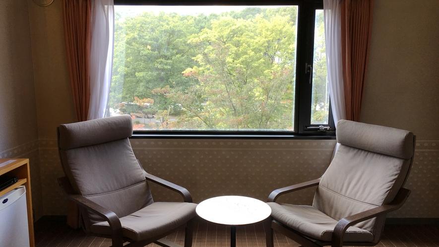 【デラックスダブル】お部屋の窓から見える景色は格別