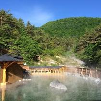 【西の河原露天風呂】日本でも有数の広さを誇る大露天風呂。