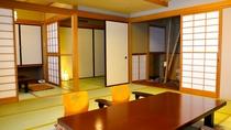 和室(ジャパニーズスイート)】12畳の和室に3畳の次の間を備えた和室(バスルーム付)