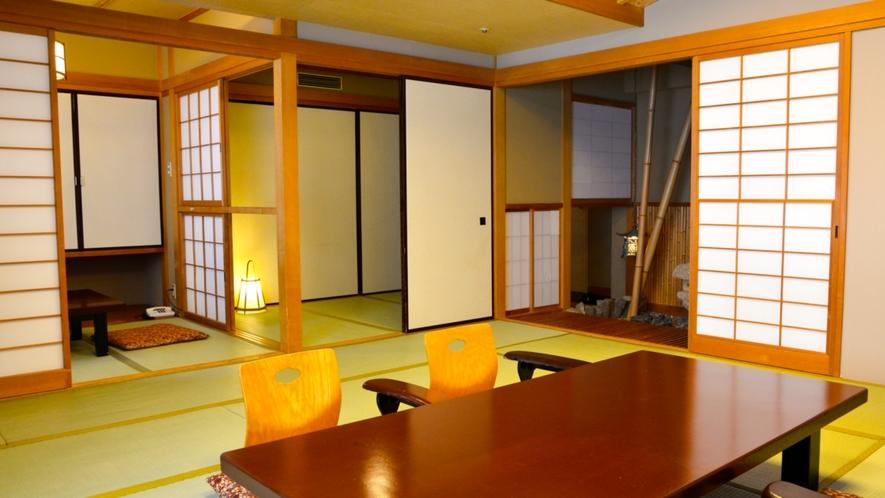 【和室】12畳の和室に3畳の次の間を備えた和室