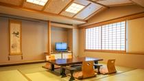 【和室(ジャパニーズスイート)】12畳の和室に3畳の次の間を備えた和室(バスルーム付)