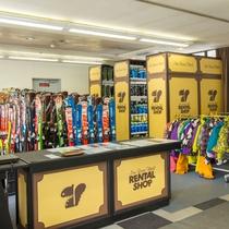 【スキーレンタルルーム】スキー、スノーボード、ウェアなどサイズも豊富。