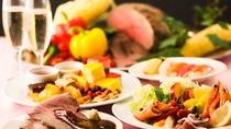 【和洋中ビュッフェディナー】群馬の食材を味わえる約50種の豊富なメニュー。