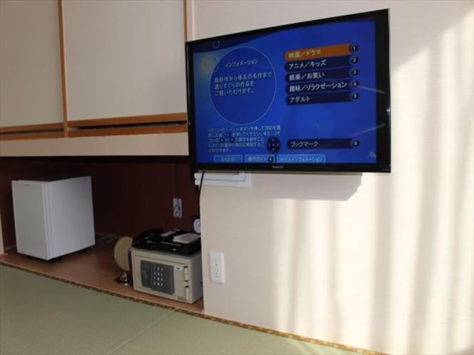和室の壁掛テレビ