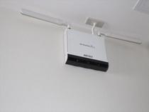 無線LANは館内どこでも使えます。