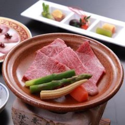 飛騨牛の陶板焼き(イメージ)