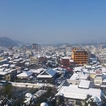 5階「織姫」からの雪景色