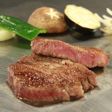 【鉄板焼き】厳選ステーキコース。湖を背に堪能する全8品。お肉の旨味が口の中で溢れだします。