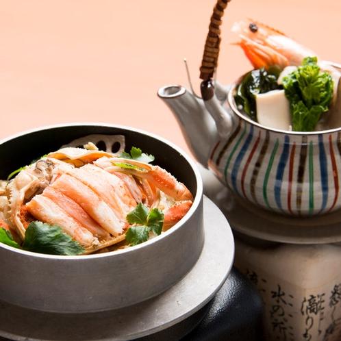和食 香箱蟹釜めしの一例