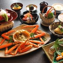 和食 蟹料理一例