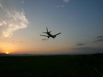 旭川空港の夕暮れ