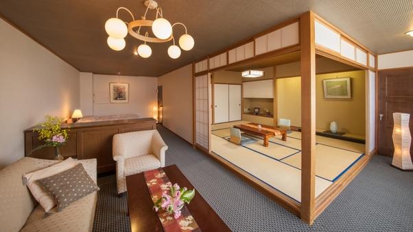 【陶川閣◆和洋室】(和室10畳+ベッド)〜眺望川側 角部屋〜