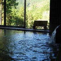 ひのき風呂からの眺望