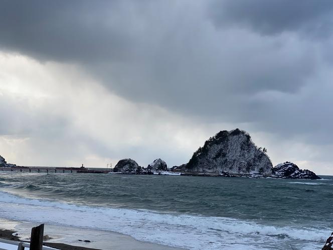 冬の白山島