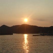 【港からの景色】夕日