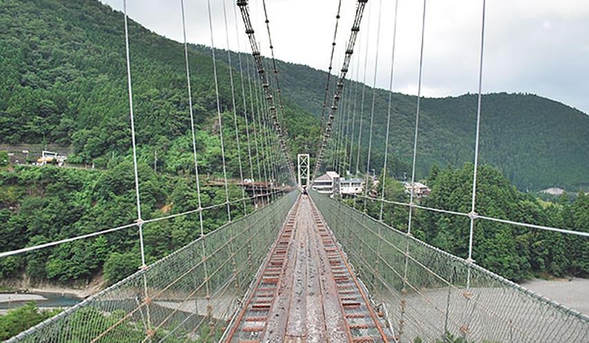 *谷瀬の吊り橋【十津川村】観光地のため、周りに飲食店などあります。