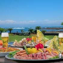 【夏季ランチメニュー】海の見えるテラスにてランチバーベキュー