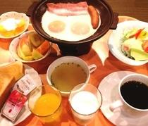 朝食イメージ(ハムエッグ)