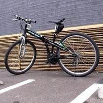自転車の無料貸し出しもあります(夏季限定)