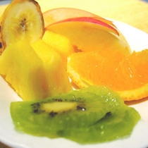 朝食:果物