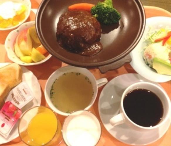 朝食イメージ(ハンバーグ)