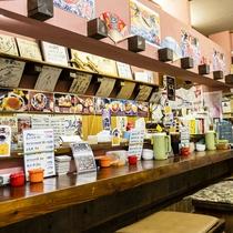 """早朝から営業されている""""万栄食堂""""さん。新鮮で美味しいお魚がリーズナブルに食べれると人気のお店です。"""