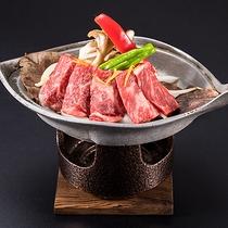 台の物(ほう葉焼き・牛肉・玉葱・モヤシ・舞茸)