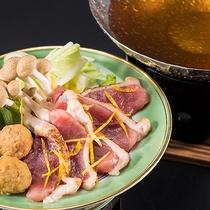鍋物(鴨鍋・鴨団子・根深・水菜・占地・柚子)