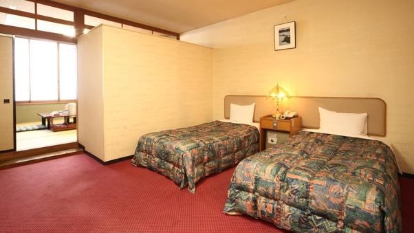 スタンダード和洋室【和室8畳+ツインベッド】